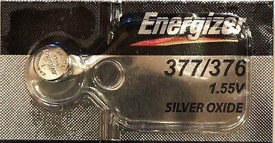 Energizer Battery Silver Oxide 377/376 SR626SW SR626W - New & Sealed - 1 Piece