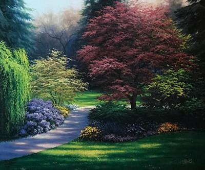 Charles White Art Prints - Charles White Japanese Maples Flower Tree Art Print Signed 20.5 x 17