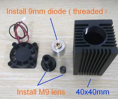 445nm Blue Laser Diode Housing For 9mm Mount With Adjustable Coated Glass Lens