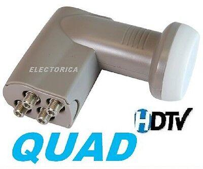 QUAD 4 OUTPUT STANDARD LINEAR HD SATELLITE LNB LNBF 10750 FREE TO AIR DISH FTA  for sale  Canada