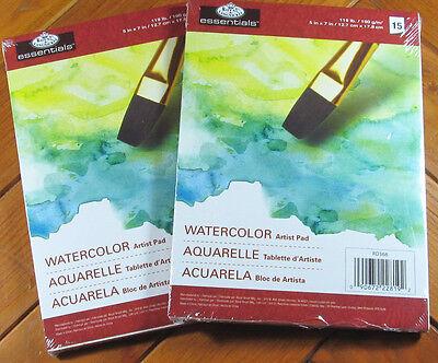 """Essentials Watercolor Artist Paper Pad 5"""" X 7"""" - Set of 2"""