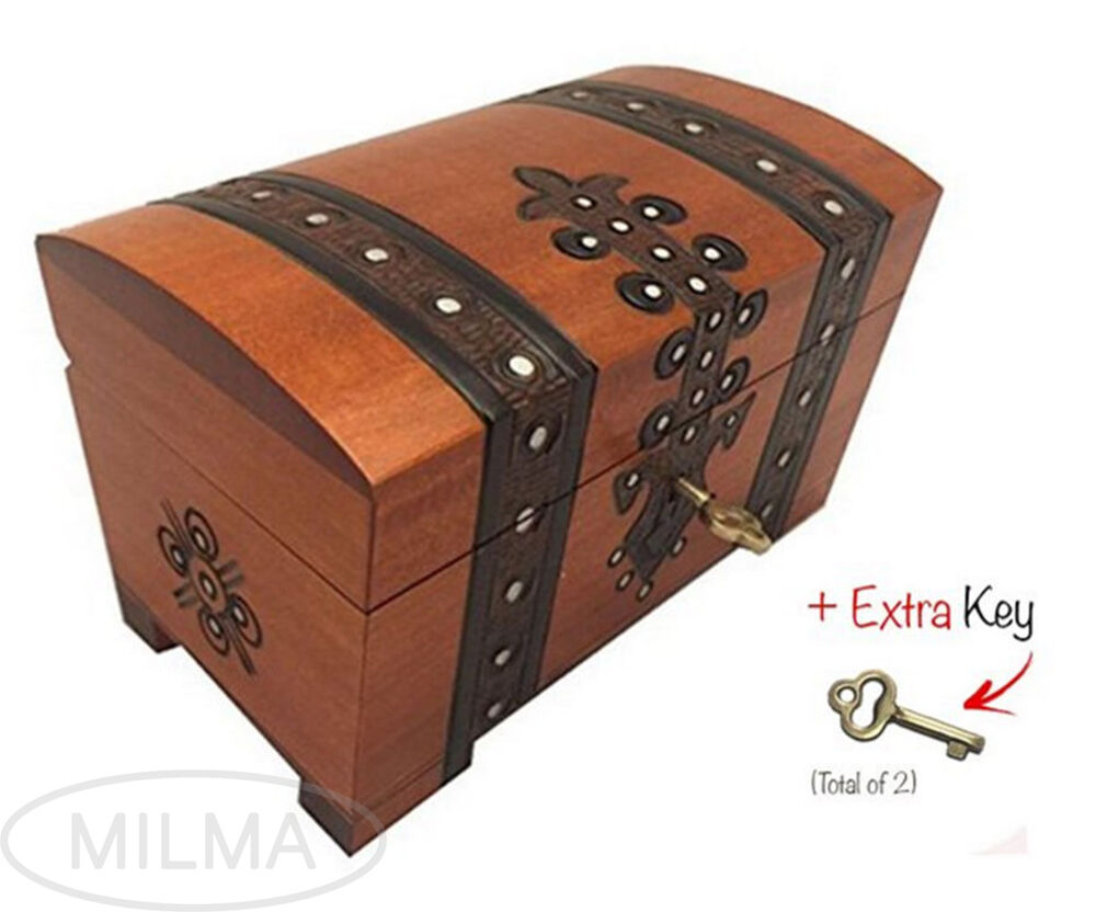 Scout Chest Box Polish Handmade Wood Keepsake Jewelry Box...