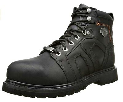 Harley-Davidson® Men's Steel Toe Chad Black Leather Safety Work Boots D93176