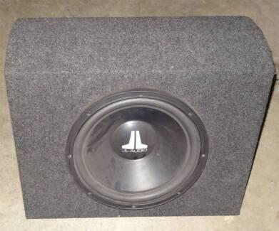 JL Audio Sound Box and Kicker Impulse 1252xi 2 Channel Amplifier