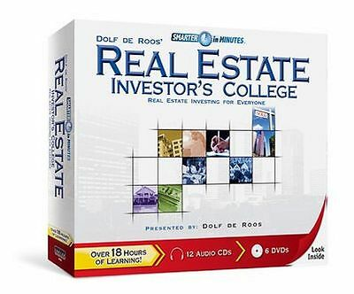 Dolf de Roos Real Estate Investor's College - 12 CDs + 6 DVDs - BRAND NEW SEALED