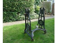 Antique Cast Iron Mangle Base
