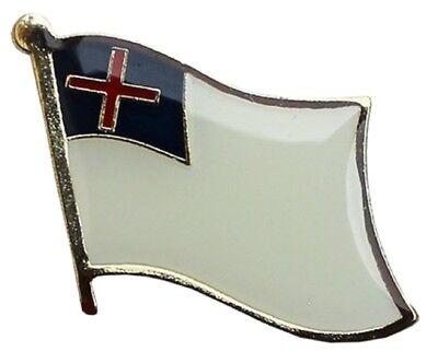 Christian Flag Lapel Hat Pin FAST USA SHIPPING Christian Flag Lapel Pin