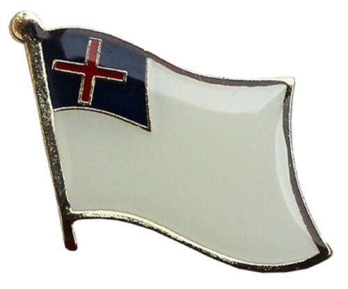 Christian Flag Lapel Hat Pin FAST USA SHIPPING