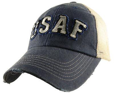 Applique Cap (U.S. Air Force Insignia Hat / USAF Applique Mesh Baseball Cap)