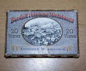 1920-MINIATURE-PHOTO-Album-Of-ABERDEEN-WASHINGTON-USA