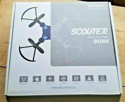 DROCON Scouter 901H Foldable Mini RC Drone - Quadcopter w/ Altitude Agree to