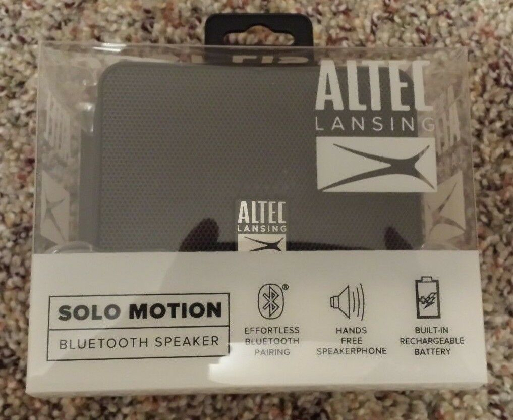 "Altec Lansing solo motion Wireless bluetooth speaker  ""BLACK"