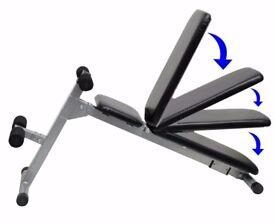 Weight Training Bench Adjustable & Folding Abdominal Decline Bench NEW