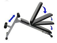 Weight Training Bench Adjustable & Folding Abdominal Decline Bench: NEW