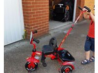 Lightning McQueen Trike with Parent Handle
