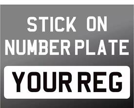 Sticker Number Plates Stick On