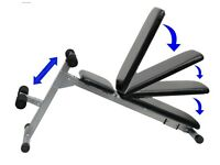 Sit Up Abdominal Bench Adjustable & Folding Weight Training Decline Bench: NEW