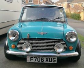 Austin Mini Project for Sale 1293cc Alley Cat wide wheels stainless stell exhaust.