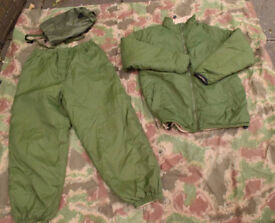 British Army Issue Cold Weather 'Softie' Thermal Suit (Jacket & Trousers) LARGE