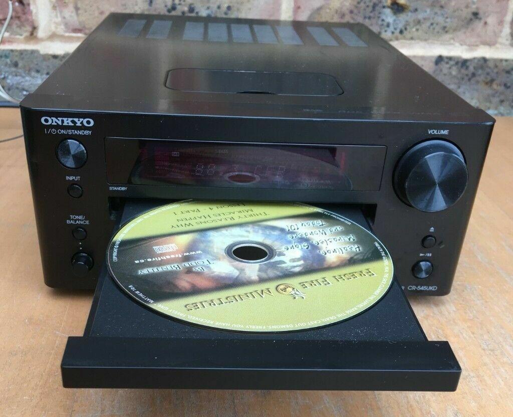 80 watts ONKYO CR545UKD MP3 USB DAB FM Radio CD-player MINI Stereo  Amplifier Amp   in Kennington, London   Gumtree