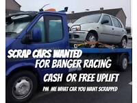 Car wanted for banger racing