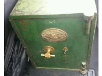 Vintage Samuel Withers safe, fire proof and with key