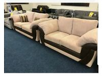 Barely used 2 Brown cord sofas