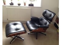 Eames LOUNGE CHAIR and STOOL in perfect state