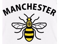 Manchester bee temporary tattoo for kids