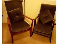 Parker Knoll fireside chair & companion