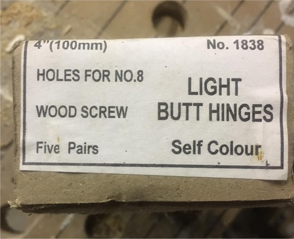 Butt hinges