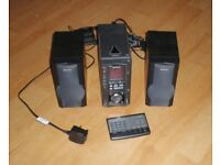 Aiwa XR-MS3 CD/Cassette/FM-AM Radio Compact Disc Stereo System with remote and aerial antenna