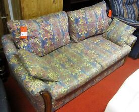 2 seater sofa in a colourful patterned fabric [9753]