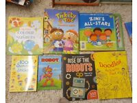 Mostly new and unused activity and interactive books