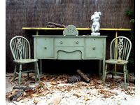 Sideboard Regency Style Painted Shabby Chic