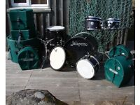 Pro British Classic Jalapeno Birch Custom 6 piece Drum Kit with Hardcases