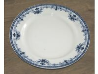 Vintage Regal Leighton 1940s (blue and white) Plates