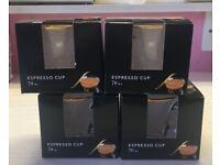 4 x L'OR Espresso cups