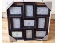 "Multi Aperture Picture Photo Frame. Holds 9 (4""x6"") photos. Black. NEW"