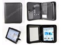Leather iPad Conference Portfolio Folder + Leather iPad Stand, Case, Cover
