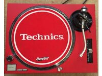 Technics SL-1210 MK2 Turntable With Custom Matte Red Cover