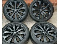 Vauxhall Astra J 17 inch Black Alloy Wheels 5 x 105 Genuine off 1.4 Petrol fits 1.3