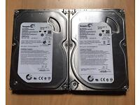 "SATA 2x 500gb 3.5"" hard drives in very good condition formatted £25"