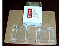 Charles Rennie Mackintosh Glencairn Crystal Glass Ashtrays (Set of 2)