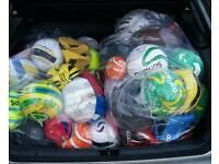 2 bags of footballs
