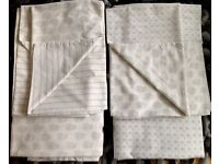 2 Next reversible double duvet covers with 4 pillow cases
