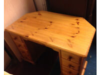 dresser desk chest with 6 drawers in real pine
