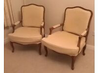 French armchairs - set of 2 + stool