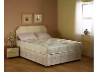 FREE DELIVERY - BRAND NEW DOUBLE DIVAN BED WITH SUPPER ORTHOPAEDIC MATTRESS SINGLE BED DOUBLE BED