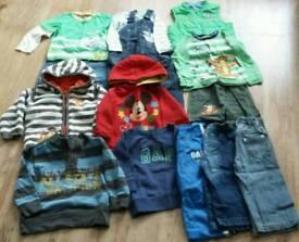 Large boys clothing bundle age 12-18 mths